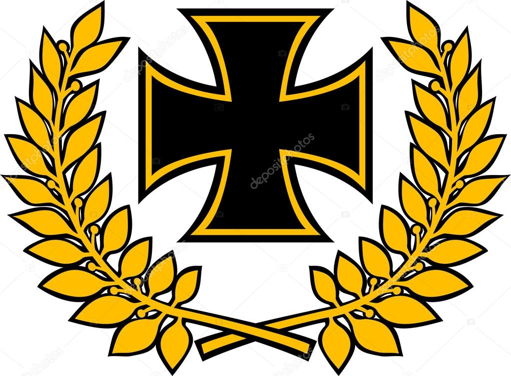 It is a photo of Lucrative Iron Cross Drawing