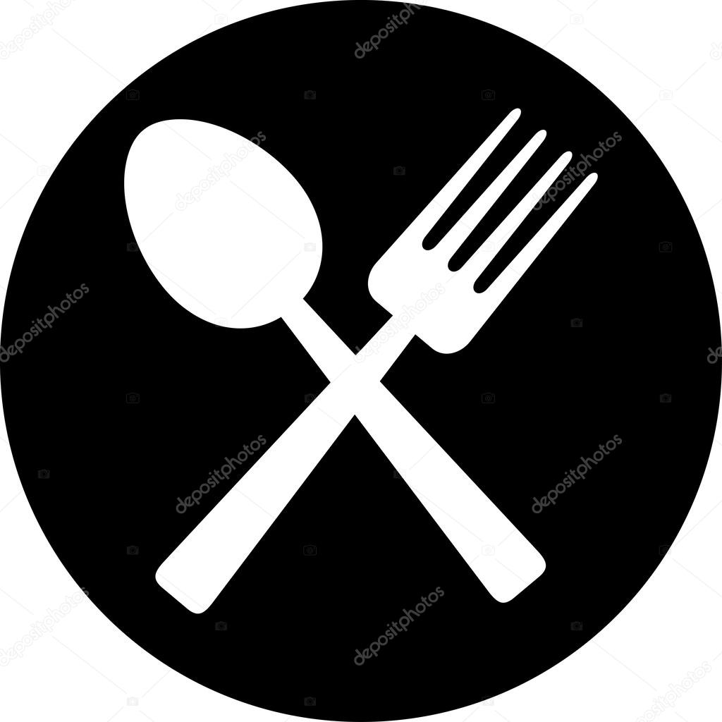 Crossed Fork And Spoon Food Icon Food Symbol