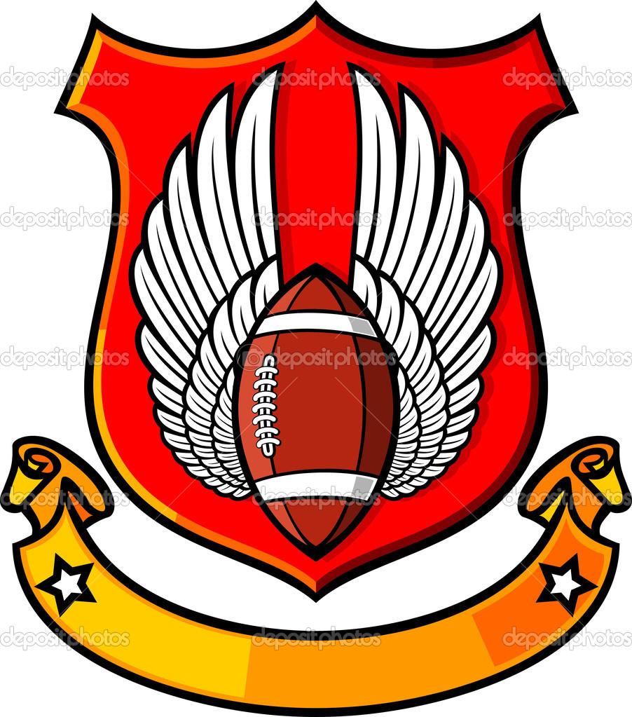 Amerikanischer Fussball Rugby Verein Wappen Stockvektor