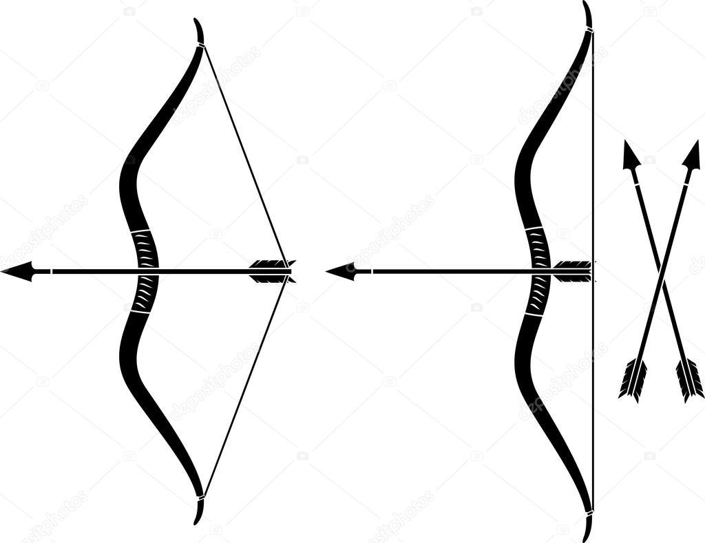 bow and arrow bow weapon with arrow stock vector rh depositphotos com bow and arrow logo vector bow arrow vector art