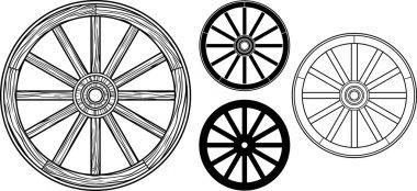 Old wooden wheel stock vector