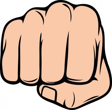 Fist punching stock vector