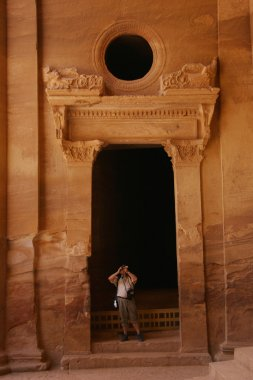 tourist in Petra, Jordan