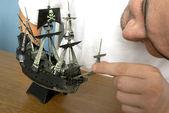 model pirátské lodi