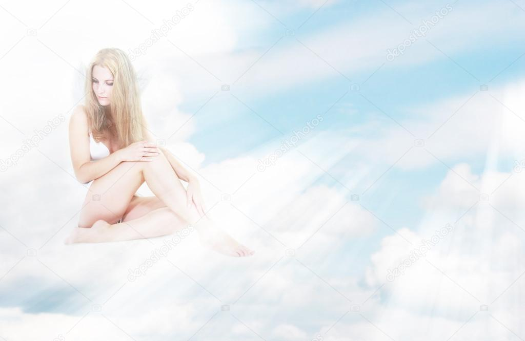 Alone Angel Girl In Sun Rays Sitting On Clouds Stock Photo C Volare2004 12619749 There is currently no wiki page for the tag sitting on cloud. alone angel girl in sun rays sitting on clouds stock photo c volare2004 12619749