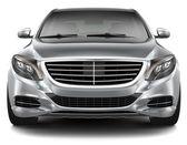 plné luxusních aut - pohled zepředu