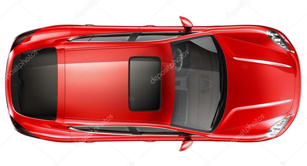 Voiture de sport rouge vue de dessus photographie vladimiroquai 42115005 - Voiture vue de haut ...