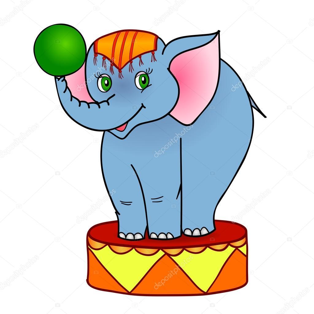 cartoon elephant circus u2014 stock vector jane hulinska 13783982