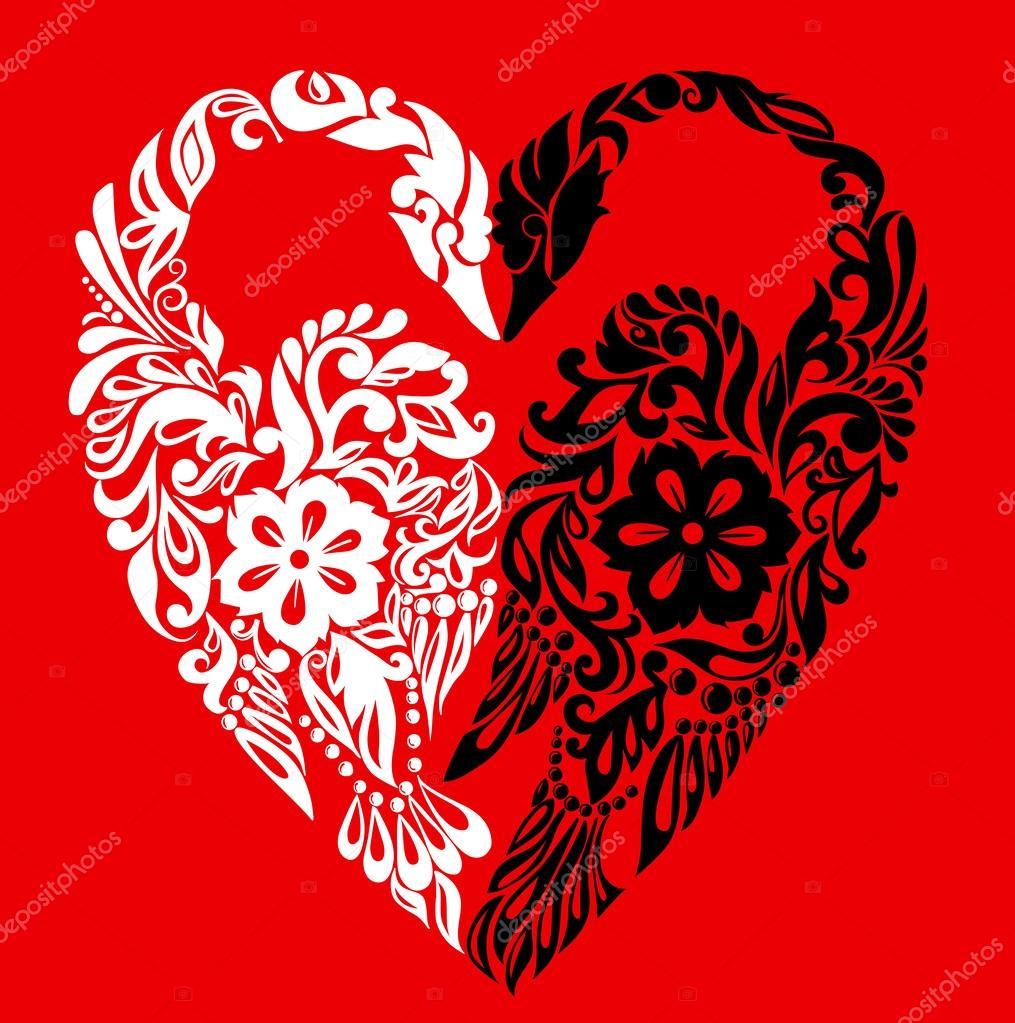 Αποτέλεσμα εικόνας για συμβολο της καρδιας κυκνοι