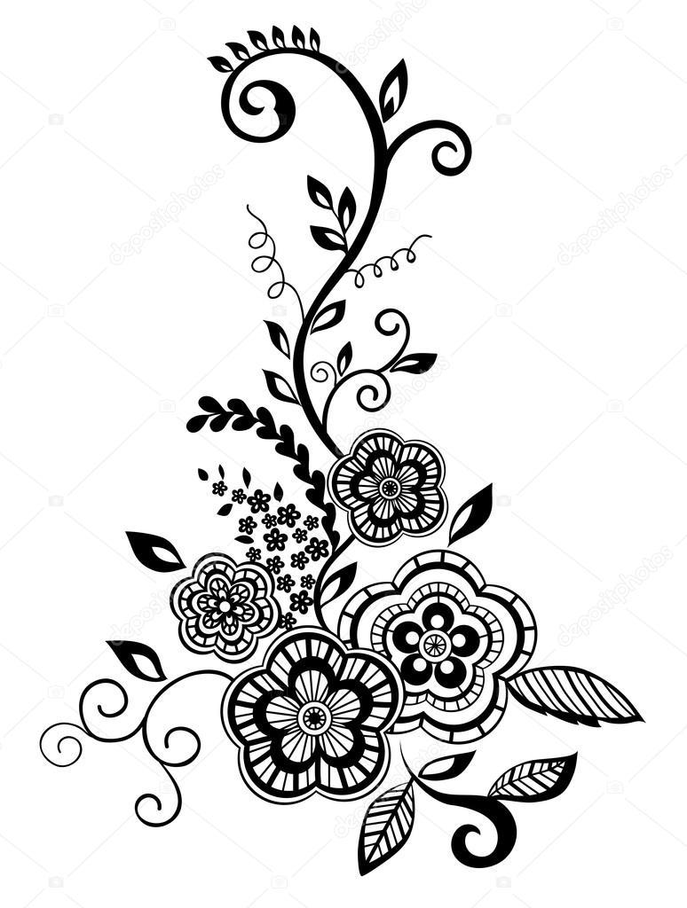 Vectores Png Florales Blancos Precioso Elemento Floral Blanco Y