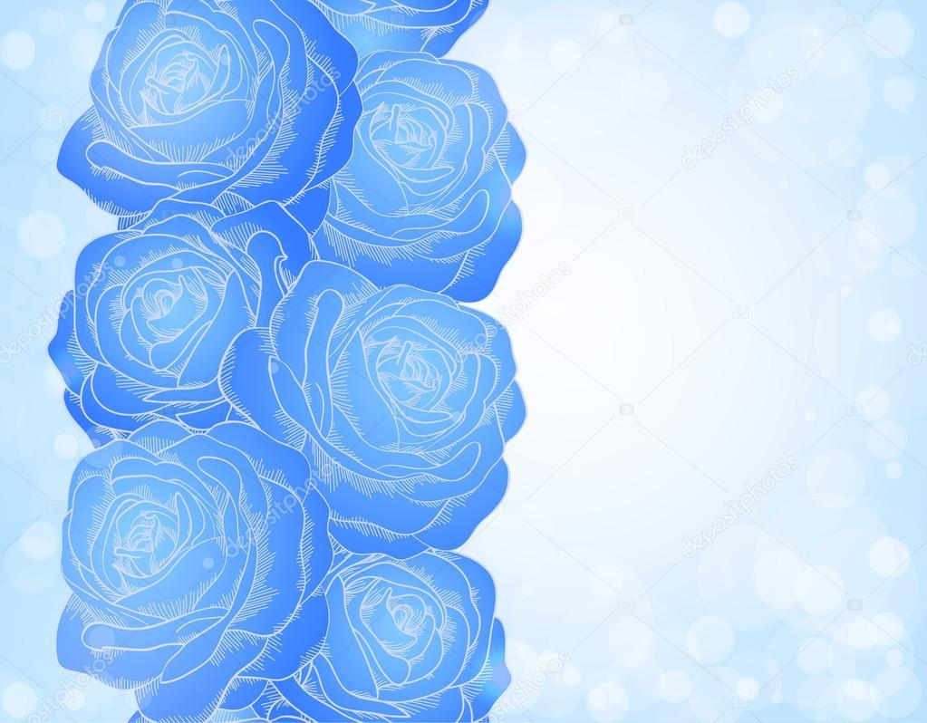 Illustrazione Rose Bokeh Pictures Bellissimo Sfondo Con Rose Blu