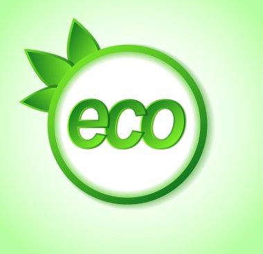 eco friendly icon on frame.