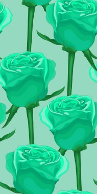 vertical seamless background with blue roses. In the old style
