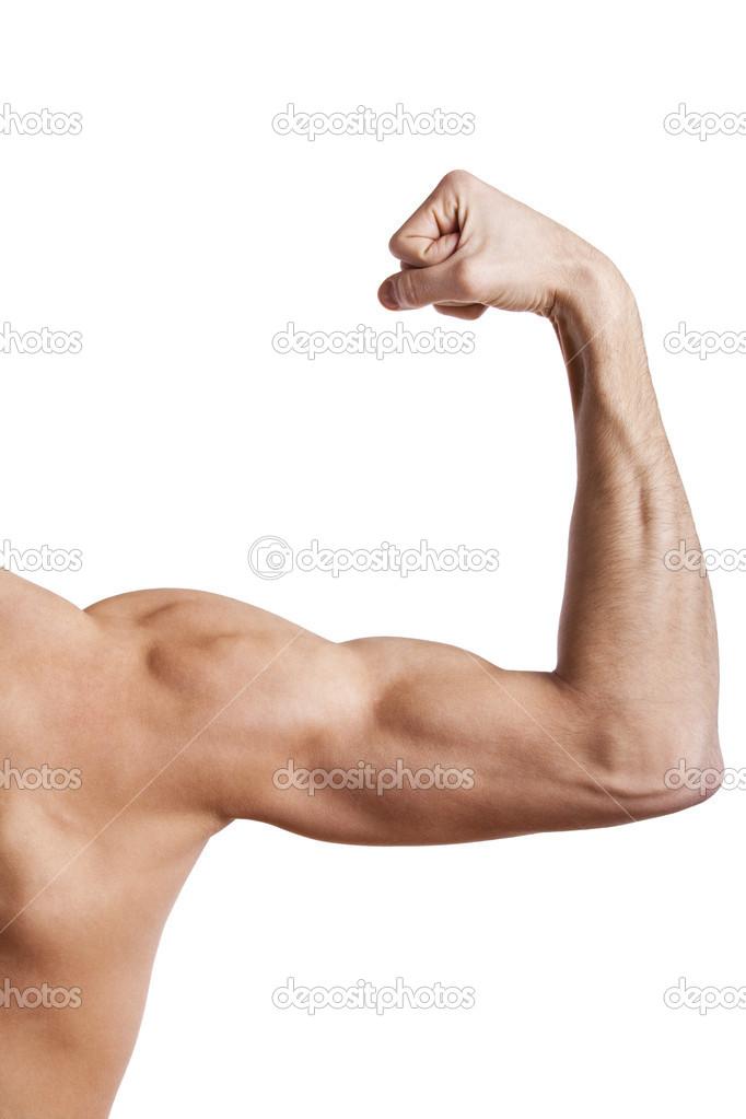 cierre del brazo musculoso hombre — Foto de stock © wtamas #13154642