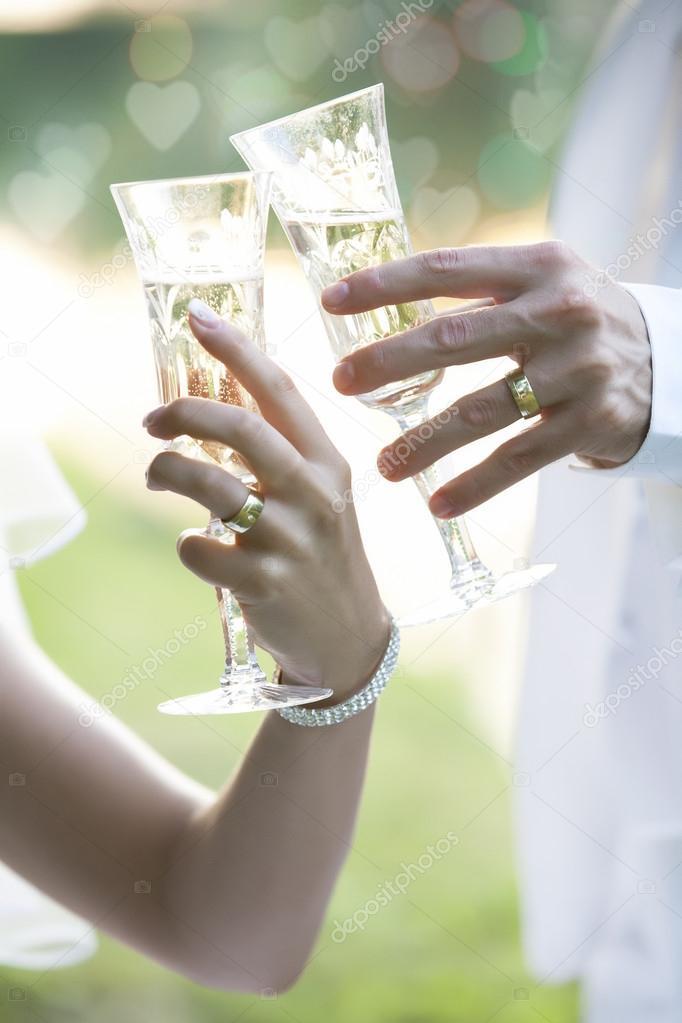 Gles And Invitation Wedding Chagne Toast Stock Photo Wtamas 13158224