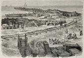 Fotografie Suez building site