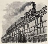 Fotografie Train upon bridge