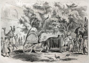 Mughal palace court