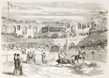 Bullfighting contest