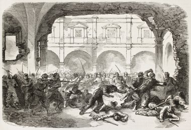 Puebla prison battle