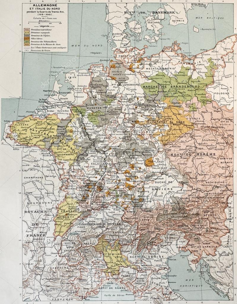 Karta Nord Italien.Tyskland Och Norra Italien Stockfotografi C Marzolino 13291823