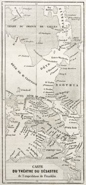Old map of Arctic region