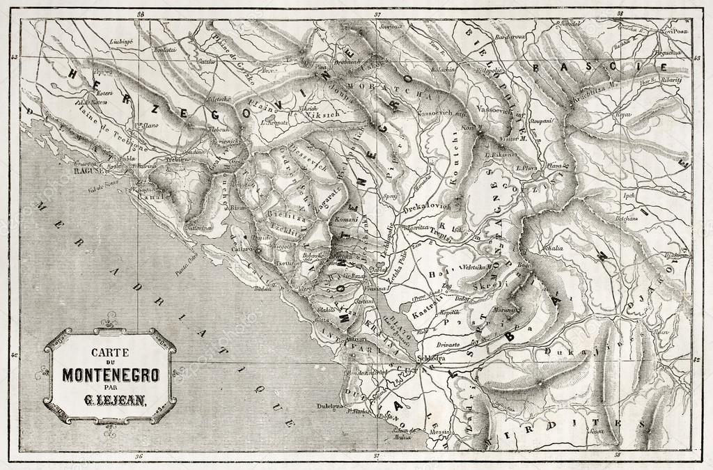 Montenegro Map Stock Photo Marzolino - Montenegro map download