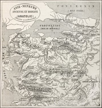Anatolia old map