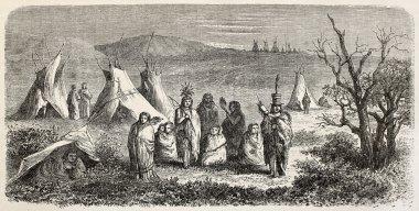 Sioux encampment