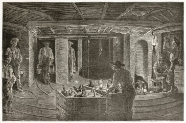 Dining in the mine