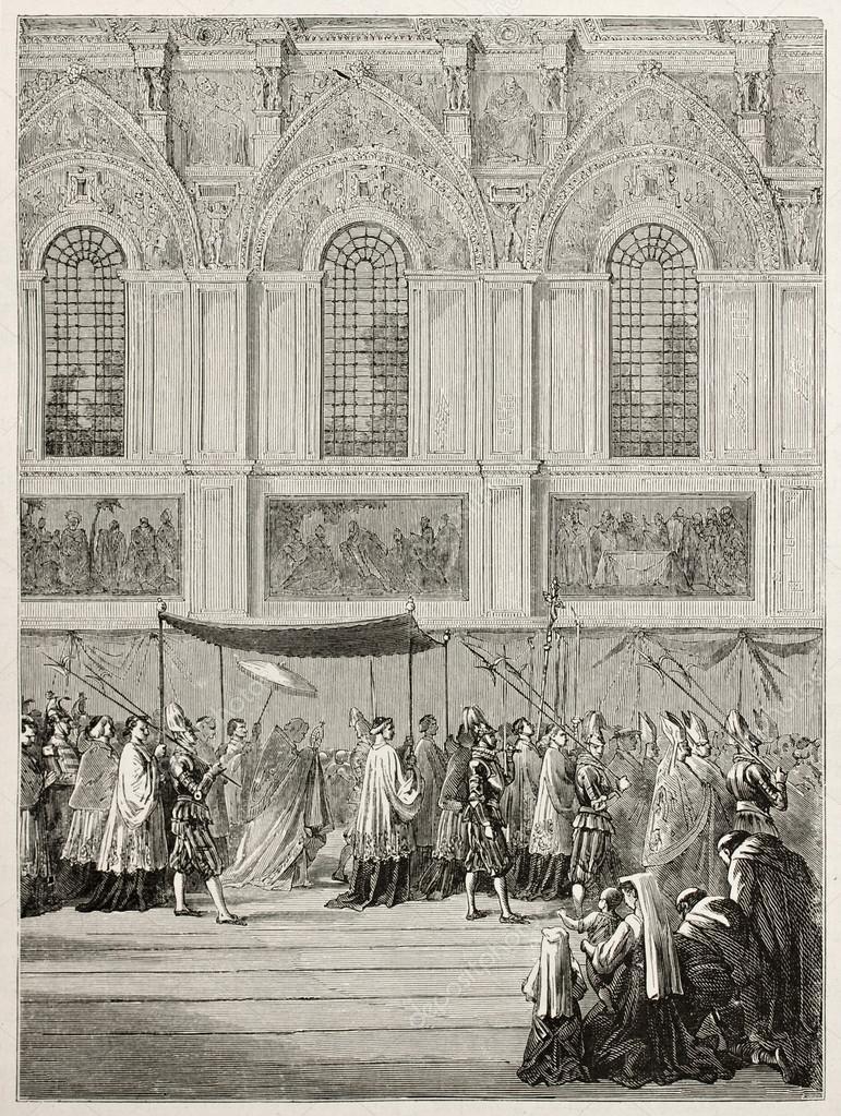 Kleurplaten Eucharistie.Brengen Van De Eucharistie Stockfoto C Marzolino 13331763