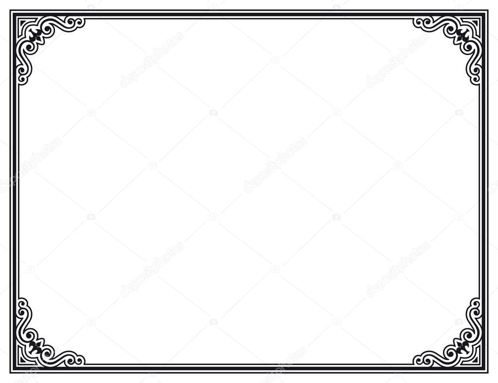 marco vectorial — Vector de stock © marzolino #31926101