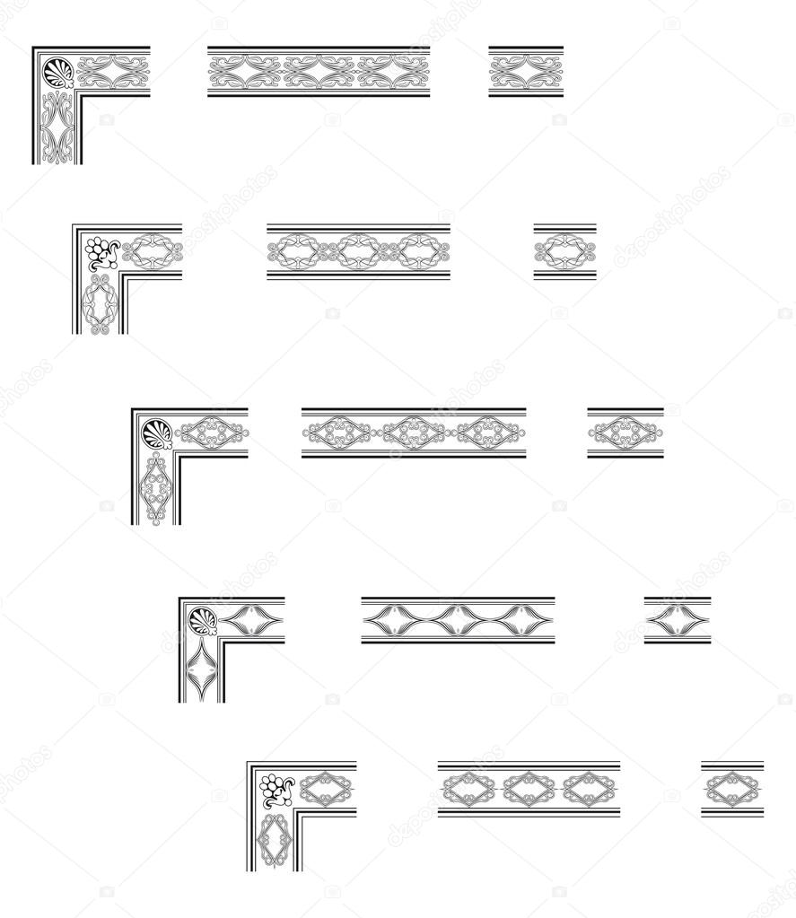 Ecken und Ränder — Stockvektor © marzolino #48022527