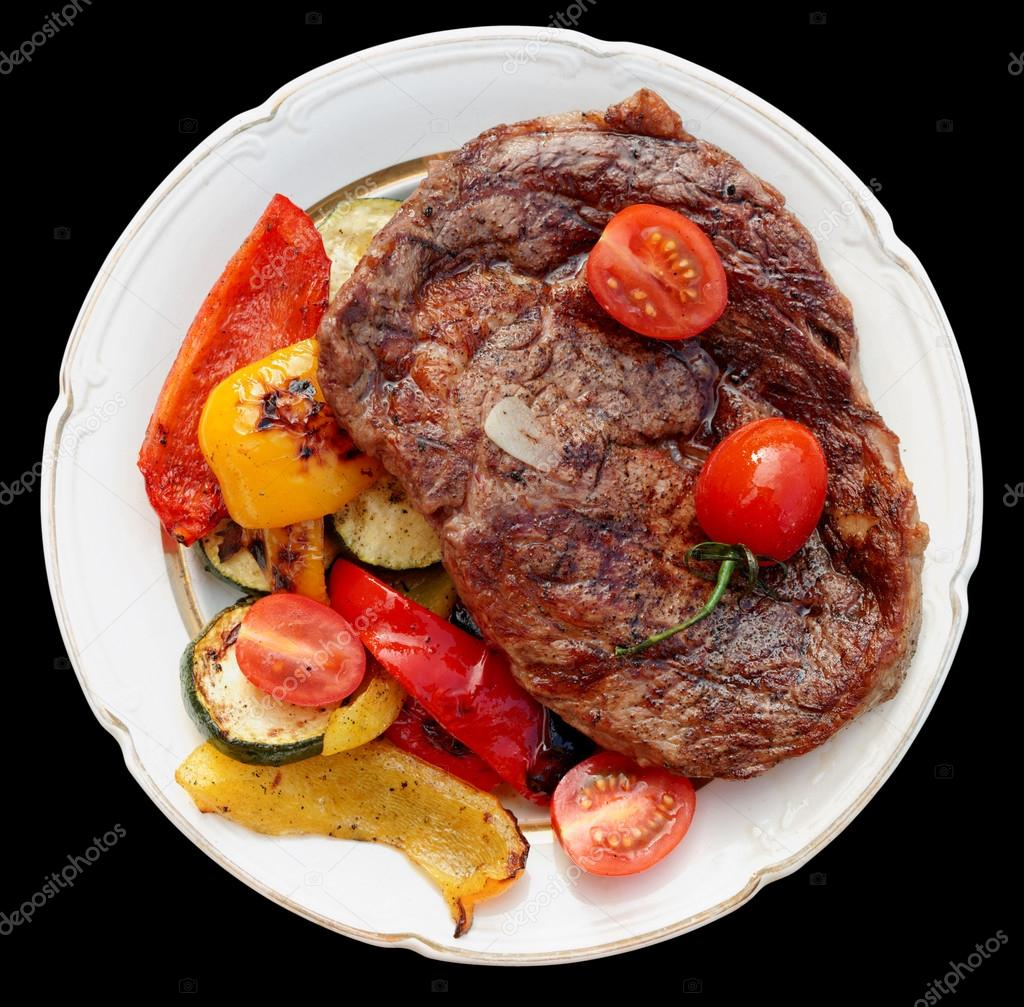bifteck de faux filet de b uf de kobe avec l gumes grill s photographie serreitor 35594523. Black Bedroom Furniture Sets. Home Design Ideas