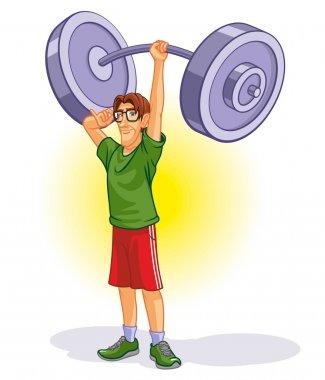 Cartoon Weightlifter