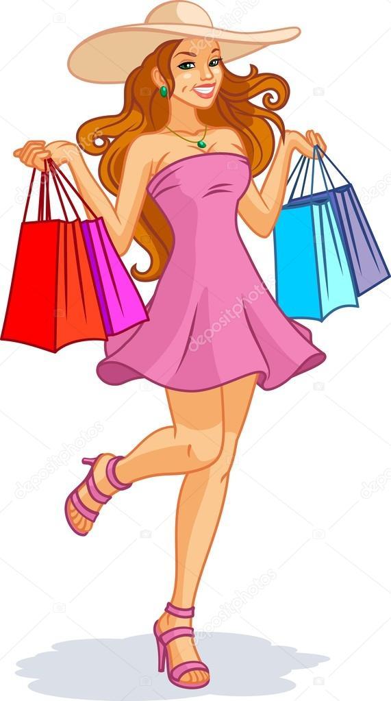 Bonita chica de compras con muy buenas tetas 5