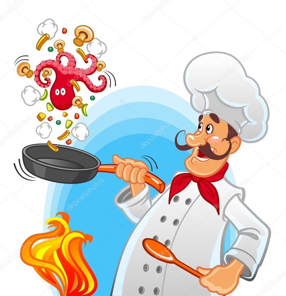 Bakery Man Baking Bread Cartoon Vector Clipart - FriendlyStock