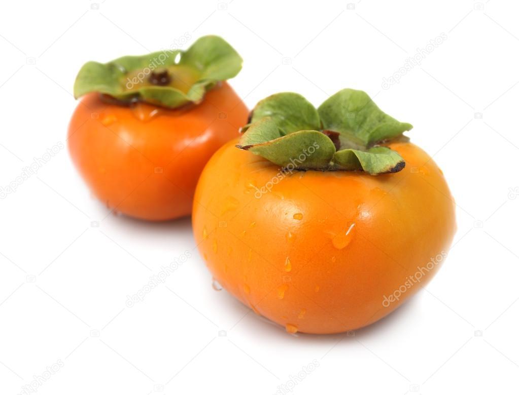 Pair of fresh organic persimmons