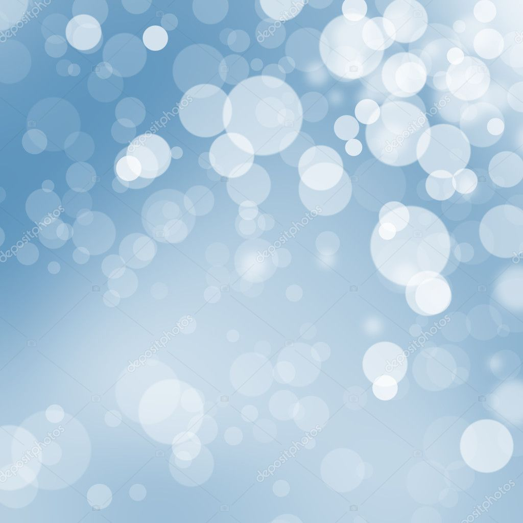 Christmas bokeh balls on blue background