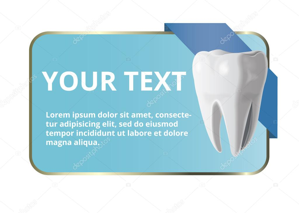 Dental tooth banner