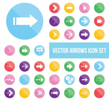 Shiny vector arrow icons set