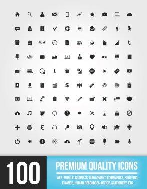 100 Web Icons vector clip art vector