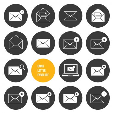 Vector Envelope Business Shopping and Other Icons for Email