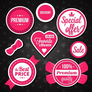 Vector Holiday Sale Badges Labels and Stickers