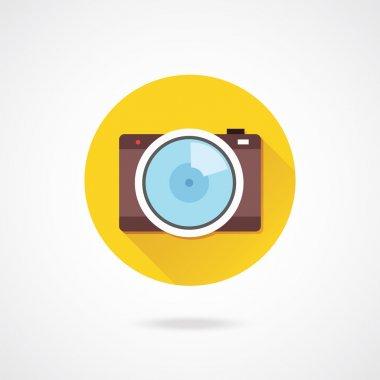 Vector Brown Camera Icon