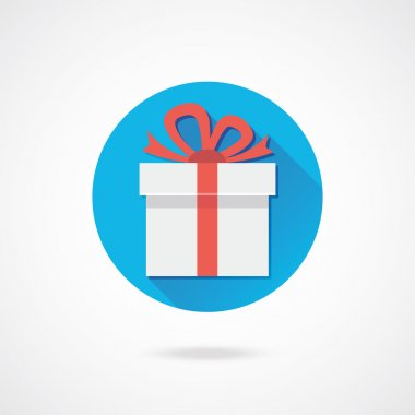 Vector White Gift Icon