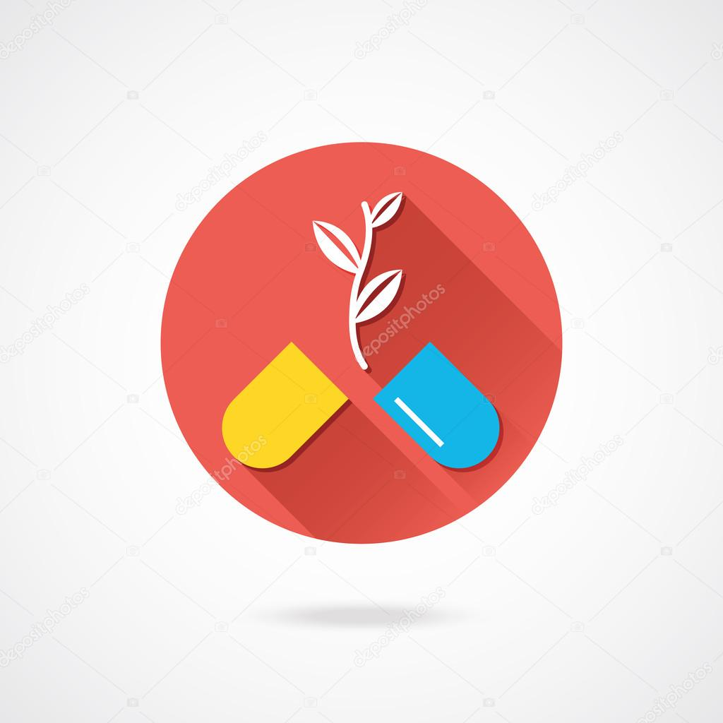 Vector Pills and Plant Icon