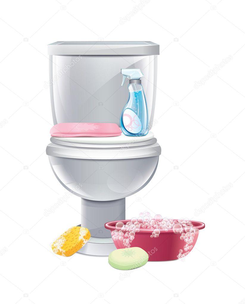 limpieza de baños — Vector de stock © magurok5 #35486561