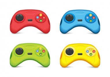 Color Gamepad Set stock vector