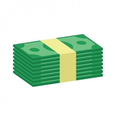 Vector Stack of Money Icon stock vector
